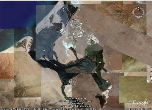 Satellite view of Laguna Ojo de Liebre