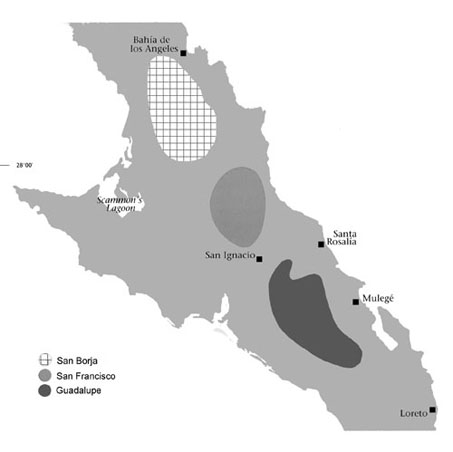 Map of Great Mural Region of Central Baja