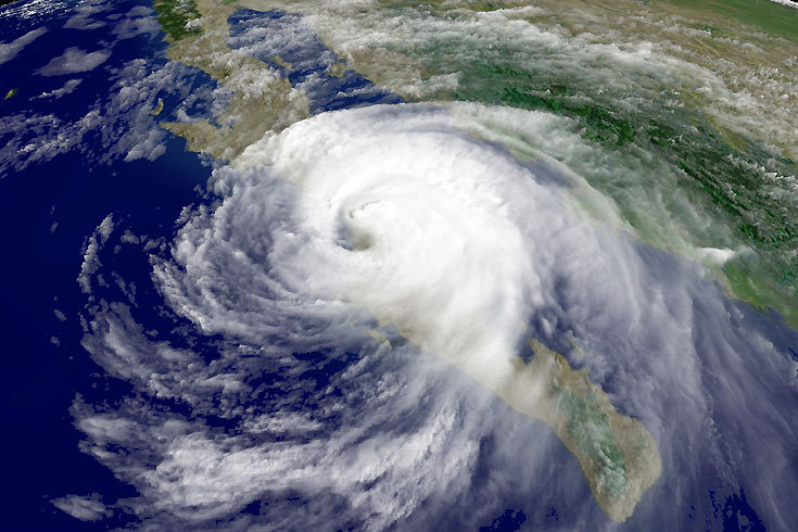 Satellite image Hurricane Jimena