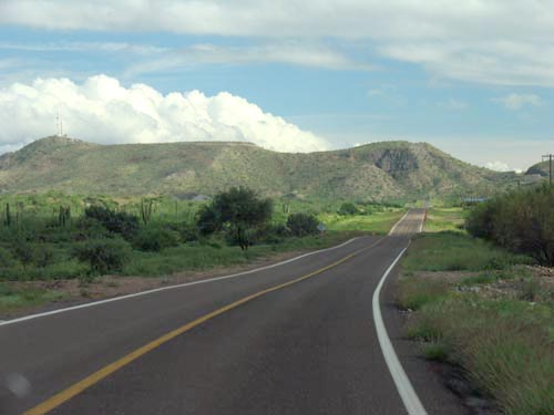 Highway south of Mulege